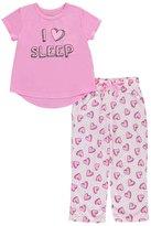 "Delia's Little Girls' ""Sleeping Hearts"" 2-Piece Pajamas"