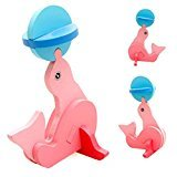 DZT1968 Baby Kids 18 Animales Montessori Mini 3D Puzzle Educational Funny Toy Wooden Colorful Jigsaw Gift (L)