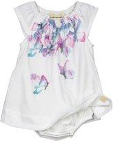 Burt's Bees Baby Cascading Butterflies Bodysuit Dress - Cloud - 24 Months