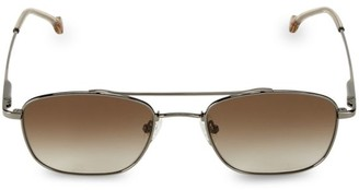Colors In Optics Biscayne Small Rectangle 53MM Metal Sunglasses