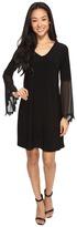Christin Michaels Kiki Bell Sleeve Shift Dress