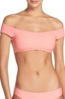 Lucky Brand Women's Sucker For Pretty Off The Shoulder Bikini Top