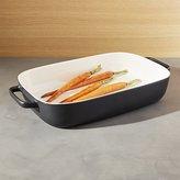 Crate & Barrel Metro Matte Black Baking Dish