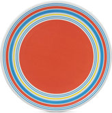 Dansk Cabana Stripe Coral Melamine Dinner Plate