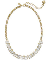 Kate Spade Gold-Tone Crystal Frontal Necklace
