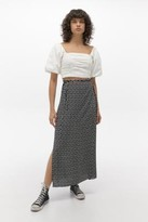 Urban Outfitters Floral Tie-Side Maxi Skirt - Assorted XS at
