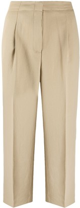 MICHAEL Michael Kors Cropped Box Pleat Trousers
