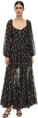 Rixo Cameron Printed Eyelet Lace Dress