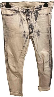 Rick Owens Lilies White Cotton - elasthane Jeans