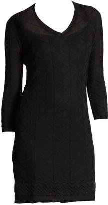 M Missoni Three-Quarter-Sleeve Knit Dress