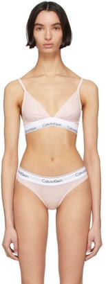 Calvin Klein Underwear Pink Modern Triangle Bralette