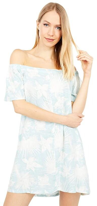 Hurley Bronte Off-the-Shoulder Dress (Ocean) Women's Clothing