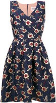 Max Mara floral jacquard flared dress - women - Polyamide/Polyester/Metallic Fibre - 40