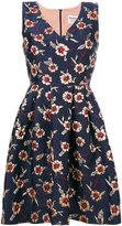 Max Mara floral jacquard flared dress