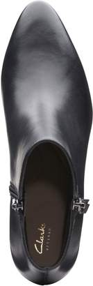 Clarks Calla Blossom Wide Fit Ankle Boots - Black