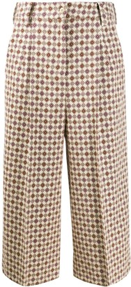 Etro Cropped Retro Print Trousers