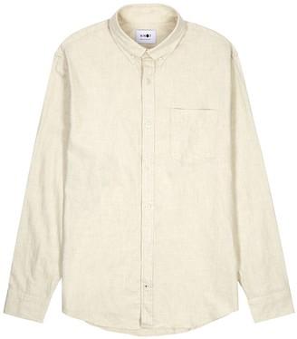 NN07 Levon off-white flannel shirt