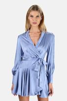 Zimmermann Silk Wrap Mini Dress