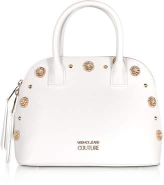 Versace Nappa Fiore Top Handle Bag W/ Studs