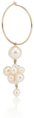 Sophie Bille Brahe Botticelli 14kt gold single earring with pearls