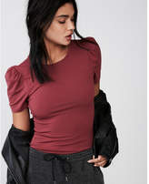Express short puff sleeve tee