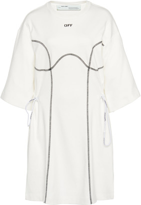 Off-White Coulisse Oversized Cotton T-Shirt Dress