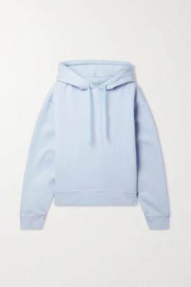 alexanderwang.t Printed Cotton-blend Jersey Hoodie - Sky blue