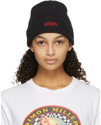 032c Black Logo Beanie