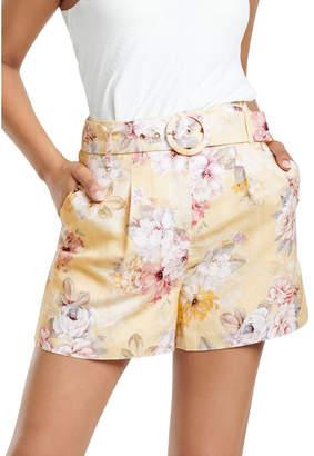 Forever New Luca Linen Blend Shorts