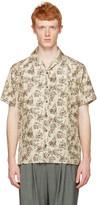Lanvin Beige Silk Koi Fish Shirt