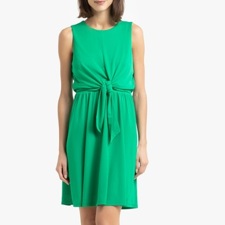 Tommy Hilfiger Sleeveless Short Dress with Tie-Front