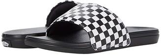 Vans Kids La Costa Slide-On (Big Kid) ((Checkerboard) White) Kid's Shoes