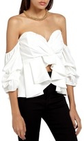 Missguided Women's Off The Shoulder Ruffle Crop Top