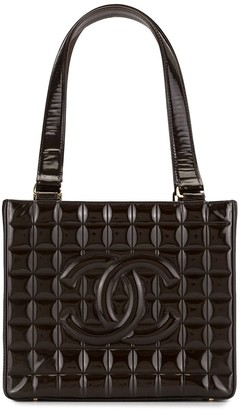 Chanel Pre Owned 2002s Choco Bar Shoulder Tote Bag