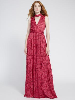 Alice + Olivia Aggie Collared Maxi Dress