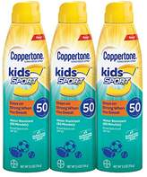 Coppertone Kids Sport Sunscreen Water Resistant Spray SPF 50, 5.5 Ounce Pack of 3