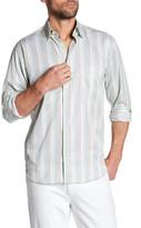 Robert Talbott Striped Print Classic Fit Sport Shirt