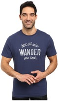 Life is Good Not All Who Wander Are Lost Crusher Tee
