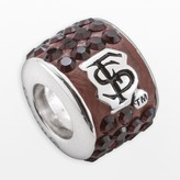 Swarovski Logoart LogoArt Florida State Seminoles Sterling Silver Crystal Logo Bead - Made with Crystals