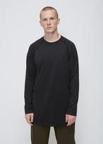 Y-3 black jersey long sleeve tee