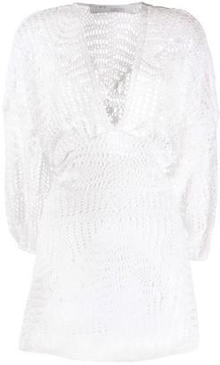 IRO crochet mini dress