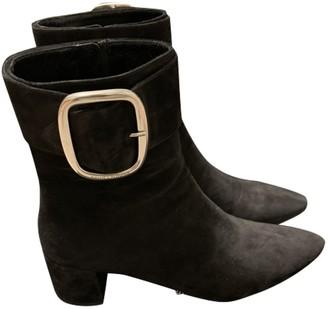Saint Laurent Joplin Black Suede Ankle boots