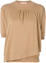 Marni asymmetric hem sweater - women - Virgin Wool - 40