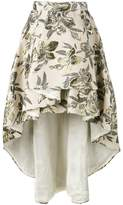 Christian Pellizzari asymmetric printed skirt
