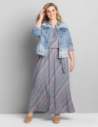 Lane Bryant Multi-Color Striped Maxi Dress