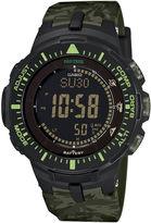 Casio Pro Trek Tough Solar Triple Sensor Mens Green Camo Sport Watch PRG300CM-3