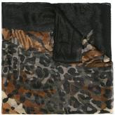 Salvatore Ferragamo animal skin print scarf