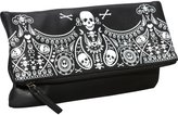Loungefly Embossed Bandana Fold Over Clutch (Blk/Wht)