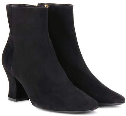 The Row Bowen suede ankle boots