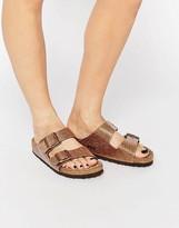 Birkenstock Arizona Magic Galaxy Bronze Flat Sandals